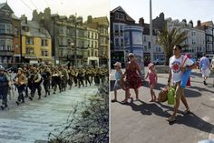 D-day landings then and now