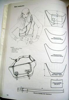 Handmade Handbags, Handmade Bags, Diy Bags Patterns, Sewing Patterns, Sac Vanessa Bruno, Leather Tutorial, Sac Week End, Leather Bag Pattern, Denim Bag
