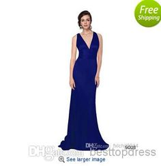 - Sexy Hot Sell Evening Dress V-neck Elegant Bridesmaid Dress   Buy Wholesale On Line Direct from China