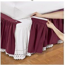 Wonderskirt™ Solid Bed Skirts and Shams Dust Ruffle, Ruffles, Home Bedroom, Bedroom Decor, Diy Bett, Bed Covers, Soft Furnishings, Bed Spreads, Slipcovers