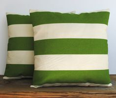 One Premier Prints Indoor/Outdoor green striped Pillow Covers, cushion, decorative pillow, throw pillow