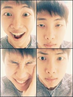 The many faces of kim namjoon ;)