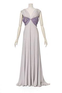 Création:  Madeleine Vionnet , maison de couture, 1938, collection été (haute couture) Madeleine Vionnet , couturier, Paris,