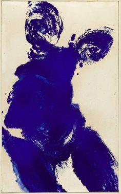 Yves Klein, Anthropometrie, 1962, oil on panel