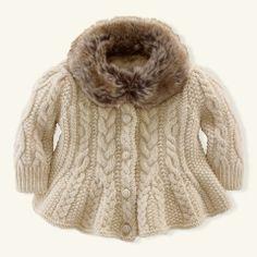 Cable-Knit Cardigan - Layette Tops & Bottoms - RalphLauren.com