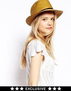 Image 1 ofCatarzi Exclusive to ASOS Borcellino Straw Hat with Leather Trim $66.69