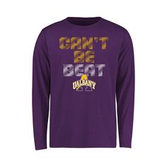 Albany Great Danes Youth Can't Be Beat Long Sleeve T-Shirt - Purple