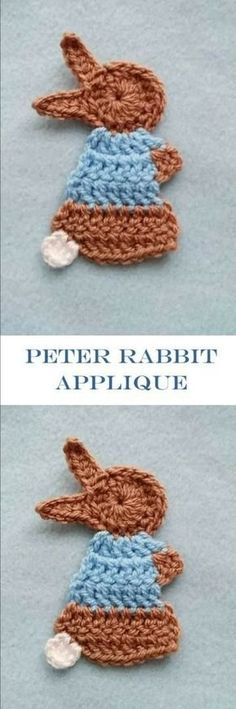Click here to find the pattern to this super cute Peter rabbit applique