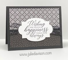 Wedding Aniversary, Diy Projects To Try, Project Ideas, Host A Party, Paper Cards, Accent Colors, Paper Design, Stampin Up Cards, Wedding Cards