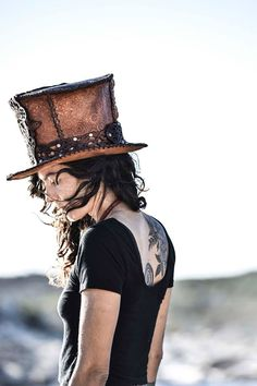 Steampunk Top Hat, Top Hats, Headgear, Fashion, Moda, Fashion Styles, Fashion Illustrations
