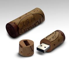 """Designer Arwye Wan wants you to taste the finer side of Universal Serial Bus with his """"Wine Stopper USB Memory Stick"""". Hand made and aged to perfection with 1GB of built memory goodness."""