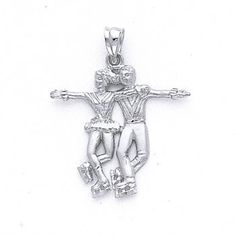 Winter Olympics, Figure Skating, Ice Skaters Couple Pendant, Ice Skating, Ice Skater Charm, Ice Skating Jewerly,Sterling Silver Charm