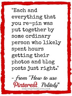 How to Use Pinterest- Politely!