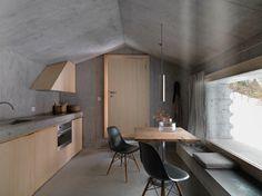 Concrete Minimalist Alp Cabin