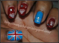 MAQUICLUB GIRL: SUMMER CHALLENGE DAY 10: Queen's Diamond Jubilee manicure