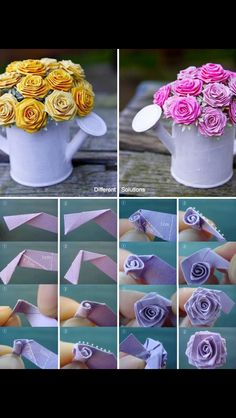 Craft roses. Seen on Facebook. Love the idea