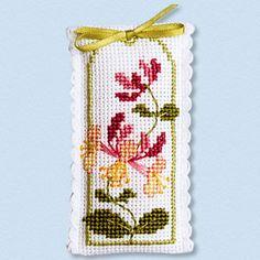 Honeysuckle - Lavender Sachet Cross Stitch Kit