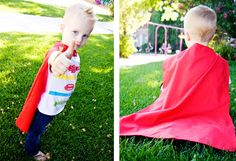 This could be my new go-to gift for little boy birthdays!  How to Make a Superhero Cape by Lara from HowDoesShe « MomsRising Blog