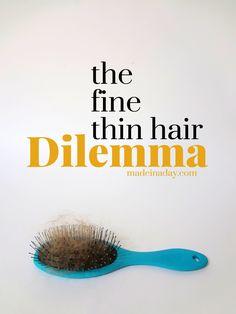 Fine thin hair, my t