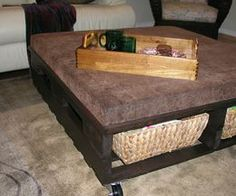 How To Make A Coffee Table From A Shipping Pallet