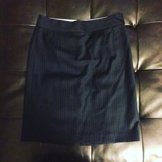 J. Crew pinstriped skirt J. Crew size 10 pin stripes skirt. Measures 22 inches from top to bottom. Very light wear. J. Crew Skirts Midi