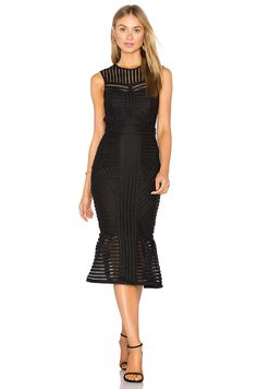 Bardot Jessa Dress en Negro   REVOLVE
