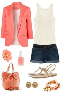 Coral Summer Outfit yep! Did my coral & lilac today 6-22