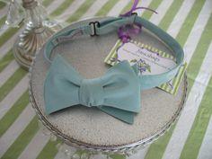 Aaron Aqua Silk Bow Tie by fancibags on Etsy, $40.00