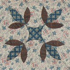 Iris Leaf Quilt Block Barbara Brackman Civil War Quilt