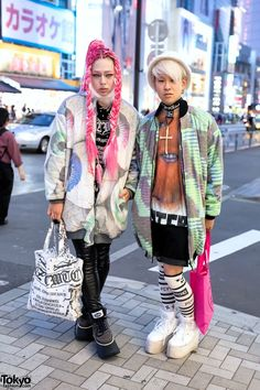 Harajuku Guys w/ Pink Hair, W.I.A Jackets, Nikki Lipstick, KTZ & Damage x OS Accessories