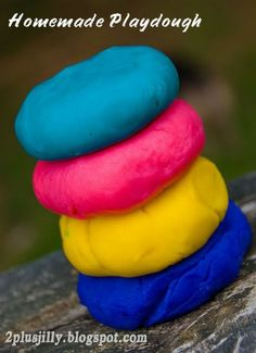 Homemade Playdough. Only need 3 ingredients.