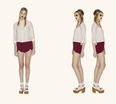 Harriet Buttondown in Cream & Colette Shorts