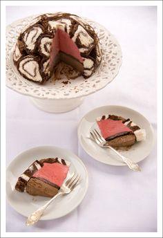 Swiss Swirl Ice-Cream Cake