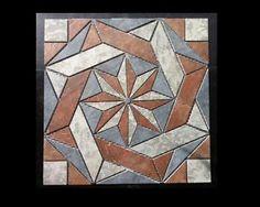 "for entryway? 22 1/4"" Porcelain Tile Medallion - Daltile's Continental Slate, floor or wall"