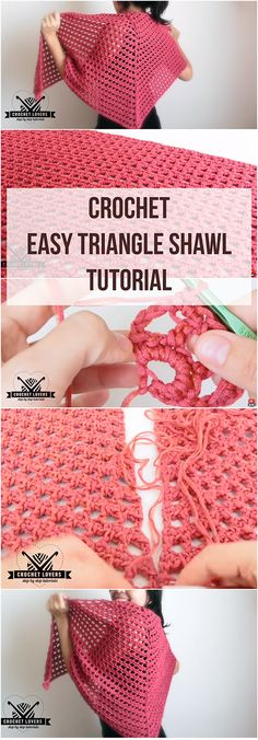 Crochet Easy Triangle Shawl Tutorial + Free Video | Were you searching for the how to crochet easy triangle shawl tutorial? You might have been or not, but regardless of that this guide is a must-learn!