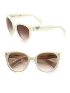 PRADA Round Cat'S-Eye Acetate Sunglasses. #prada #sunglasses