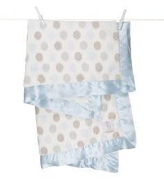 Luxe Dot™ ::  Baby Blanket in blue, pink and green