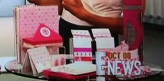 """10/8/13 E! News- The Pink Ribbon collection was featured in an on-air roundup of Breast Cancer Awareness products, presented by hosts Catt Sadler and Giuliana Rancic. Particularly love the personal testimony Giuliana gave on the Life Planner - """"This is the cutest thing, I've had these for years!"""""""