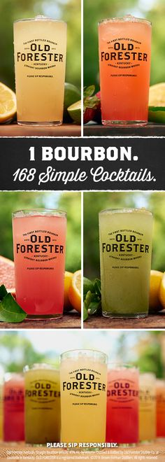 Serve up summer with easy, colorful and refreshing citrus drink recipes from Old Forester. It's easy as 1, 2, 3, 4, when you combine 1 part Bourbon, 1 part citrus (like lemon, lime or grapefruit), 1 part water (like watermelon or cucumber juice or coconut water) and 1 part syrup (like strawberry, lavender, mint or honey). Now whiskey is summertime's main squeeze when you craft perfect cocktails to every guest's unique taste at cocktail parties, backyard BBQs, or even weddings and showers.