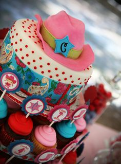 Stunning cake at a Cowgirl Party #cowgirl #partycake