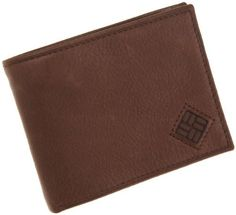 Columbia  Men's Extra Capacity Slim Fold Wallet,Brown,One Size Columbia. $19.50. Interior Left And Rights Sides Have 3 Credit Card Pockets.. Middle wing has  a clear id window & thumb ejector on both sides. 100% Genuine Leather. Save 25%!