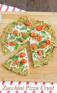 Zucchini Pizza Crust - this crust is fantastic! It holds up well to toppings and is full of flavor! You have got to make this pizza!