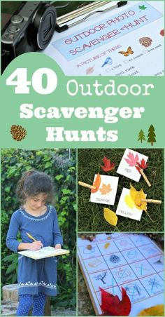 40 Outdoor Scavenger Hunts for Kids {w/free printables!} 40 Outdoor Scavenger Hunts for Kids with free printables! Ideas for nature scavenger hunts, holiday games, seasonal challenges and more! Outside Activities For Kids, Games For Kids Classroom, Kids Learning Activities, Summer Activities For Kids, Outdoor Classroom, Autumn Activities, Family Activities, Nature Activities, Camping Activities