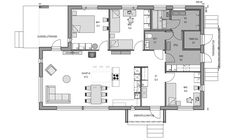 Contemporary House Plans, Cottage Design, Floor Plans, Arno, Small Homes, How To Plan, Facebook, Cabin Design, Little Houses