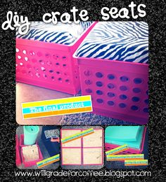 DIY crate seats! Can't wait to make these for my new classroom!