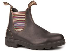 Blundstone 1409 - The Original in Stout Brown with Striped Elastic – Blundstone Canada. I NEED these!