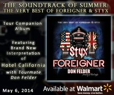 Soundtrack of Summer: The Very Best of Foreigner and Styx Album Now available at Walmart