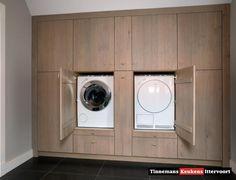wegwerken van de wasmachine