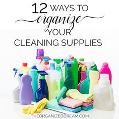 Part of cleaning is being organized. Uses these 12 inspiring ways to organize your cleaning supplies in almost any place you store them. Cleaning Chemicals, Kitchen Supplies, Getting Organized, Kitchen Sink, Organization, Projects, Organize Cleaning Supplies, Diy, Inspiration