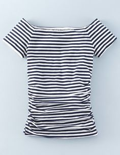 ***I feel like I need to go to Paris in this top! Off Shoulder Ruched Top